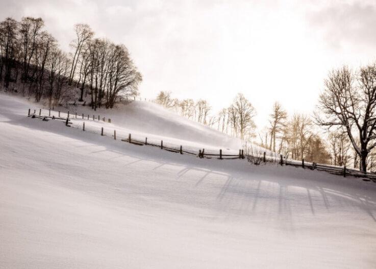 Schneebedeckte-Landschaft