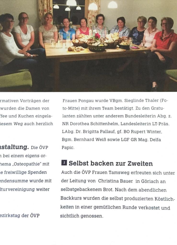 Backkurs-OEVP-Frauen-Tamsweg